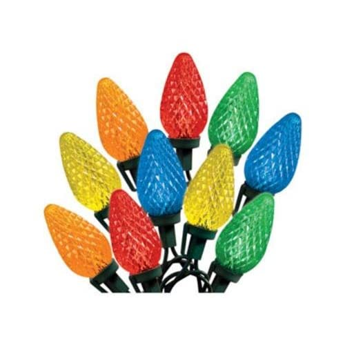 Celebrations 47736-71 Indoor/Outdoor C9 LED Multi-Color Light Bulbs On A