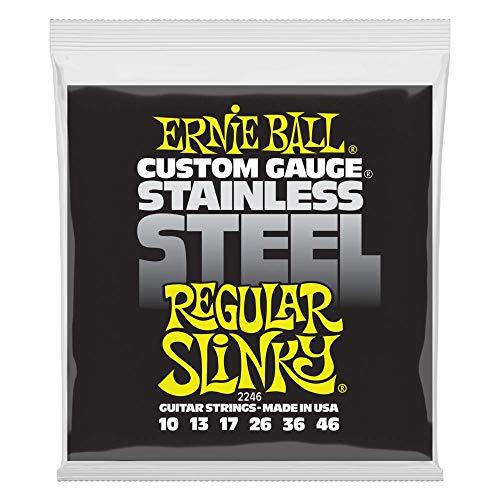 Cordes pour guitare électrique Ernie Ball Regular Slinky en acier inoxydable - calibre 10-46