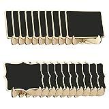 GHJK - Mini pizarra para notas con caballete de madera, se puede utilizar para decoración de fiestas, 20 unidades