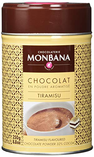 Monbana Schokoladenpulver Tiramisu 250g Dose (32 prozent Kakao), 1er Pack (1 x 250 g)