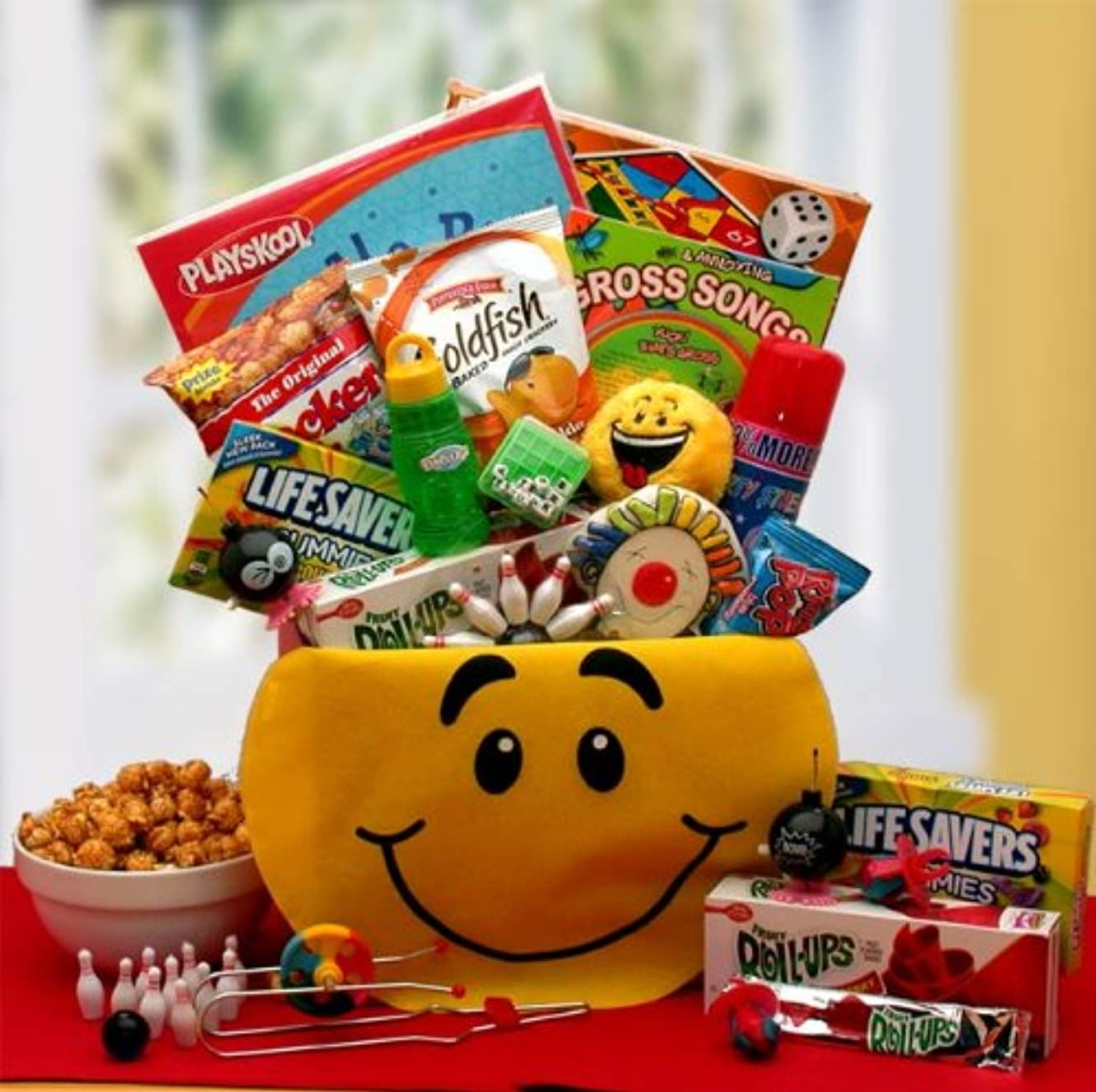Fun Snacks and Activity Basket for Boys - Makes a Perfect Birthday, Easter, Christmas or Any Occasion Gift for Kids.