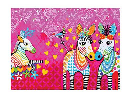 Maxwell & Williams - Strofinaccio con motivo a zig zag zeb, 100% cotone, colore: rosa, 50 x 70 cm