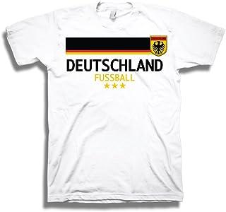 Animewild Germany Deutschland Fussball Soccer World Cup Mens White T-Shirt