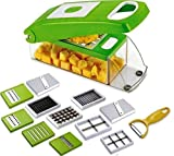 SHOPPOSTREET Multi-Purpose Plastic Vegetable and Fruits Grater, Chipser Chopper, Slicer, Cutter and...