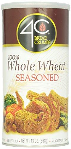 4C Bread Crumbs 100% Whole Wheat Seasoned, 13 oz