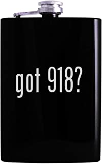 got 918? - 8oz Hip Alcohol Drinking Flask, Black