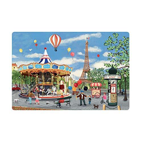 Winkler - Set de table - Décoration table - Tapis de table - Résistant chaleur - Antidérapant - Entretien facile - 100% Polypropylène - Assortis Unique - Carrousel Tour Eiffel