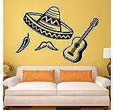 Mrlwy Vinilo decorativo Chile Pegatinas de vinilo para guitarra Art Mural 28x44cm