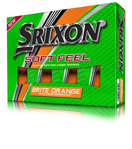 Srixon (Lakeballs-Diver) 12 Soft Feel Brite Orange Matt Golfbälle, 2-Pieces