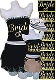 PrinturShirt Bridesmaid Shirts | Engagement Shirts | Bridal Party Shirts | Bachelorette Shirts Team Bride | Bride Iron On Heat Transfer Vinyl Set, 8pcs, 5 by 9 Inch, Gold, - Easy To Use, Savings
