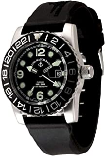 Zeno - Watch Reloj Mujer - Airplane Diver Automática GMT Points (Dual Time), Black - 6349GMT-3-a1