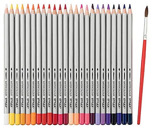 'STYLEX Super Soft Aquarell- und Künstler-Buntstifte Set - Farbstifte für Malbuch & Co. - Künstlerbedarf für Erwachsene (Aquarell 1)