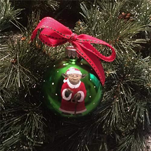 DONL9BAUER Weihnachtskugeln Ornamente Weihnachtsmann Y-oda hängende Kugel für Weihnachtsbaum bruchsichere Weihnachtsdekorationen für Urlaub Hochzeit Party