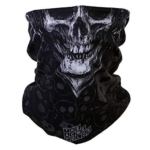 ACBungji Multifunktionstuch Gesichtsmaske Motorradmaske Sturmmaske Maske für Motorrad Ski Snowboard Snowboard Paintball Fahrrad Bergsteigen Trekking Skateboarden Angeln Skull Halloween Clown 61602