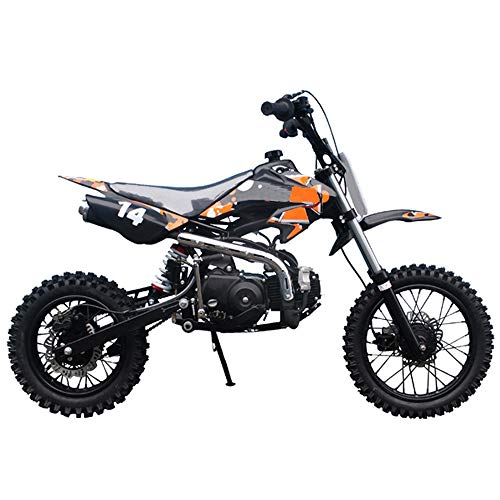 X-PRO 110cc Dirt Bike Pit Bike Kids Dirt Pitbike 110 Dirt Pit Bike (Orange)