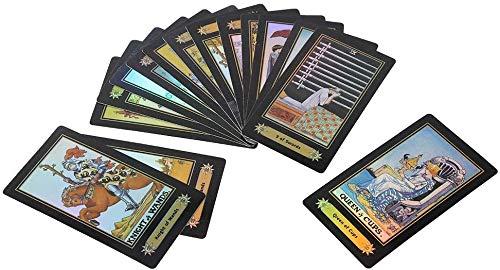 YTTde 78PCS Tarotkarten Vintage Tarotkarten Deck Rider Waite Tarot Deck Future Telling Game Wahrsagerkarten Tarotkarten Für Kartenparty-Brettspiele