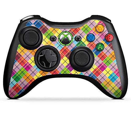 DeinDesign Skin kompatibel mit Microsoft Xbox 360 Controller Folie Sticker kariert Farbe Thermomixmotive