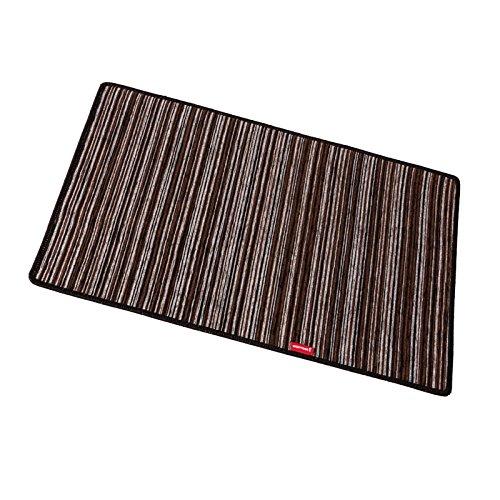 Chenille 50x75cm marrone riscaldamento domestico tappetino scaldapiedi