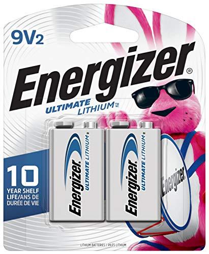 Energizer 9V Lithium Batteries, Ultimate Lithium 9 Volt Batteries (2 Battery Count) - Packaging...