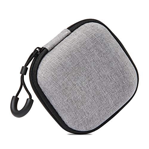 Kopfhörer Tasche, In-Ear Kopfhörer Tragbar, Eva-Tragetasche Schutztasche Mini Etui Tasche mit Netzfach für Earphone Cover Schutzhülle Headphone Etui