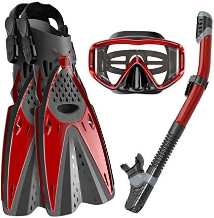 Ertong Scuba Diving Gear Swimming Combo Set Waterproof and Anti Fog Snorkel Mask Adjustable product image