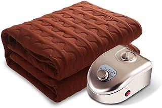 Manta Eléctrica/Manta Calefactora De Control Doble, Individual/Doble / King Size (beige/Marrón),Brown-180x200cm