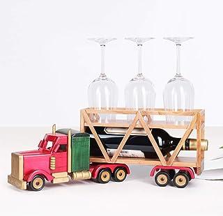L.HPT Casier à vin en Bois Massif, Support à bière en Bois et Support de Stockage, Support de vin de Bureau de Voiture Sup...