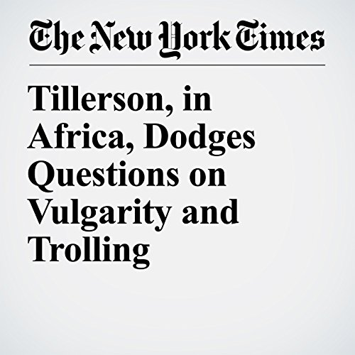 Tillerson, in Africa, Dodges Questions on Vulgarity and Trolling copertina