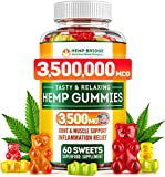 Premium Hemp Gummies 3500mg - Safe and Natural - Made in USA - Maximum Value in Each Gummy - Stress & Anxiety Relief - Special Vitamins B, E, Omega 3, 6, 9 Blend