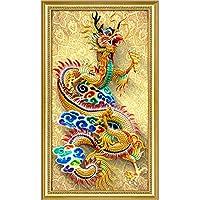 ナンバーキットによるDIY5Dダイヤモンド絵画フルドリルラインストーン写真家の壁の装飾のためのアートクラフト、ドラゴン(A、86 * 50cm)