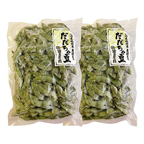 【冷凍】【半茹で】 本場鶴岡 だだちゃ豆500g×2袋 (1kg)