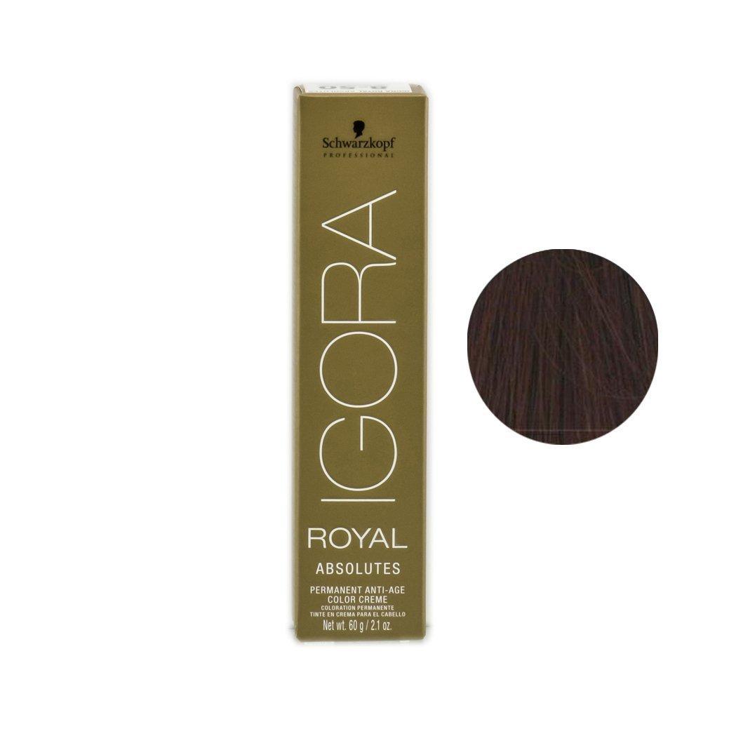エキスパート半球覗くSchwarzkopf プロフェッショナルIGORAロイヤルアブソリュート髪の色、 2.1オンス 5-70、ライトブラウン銅netural