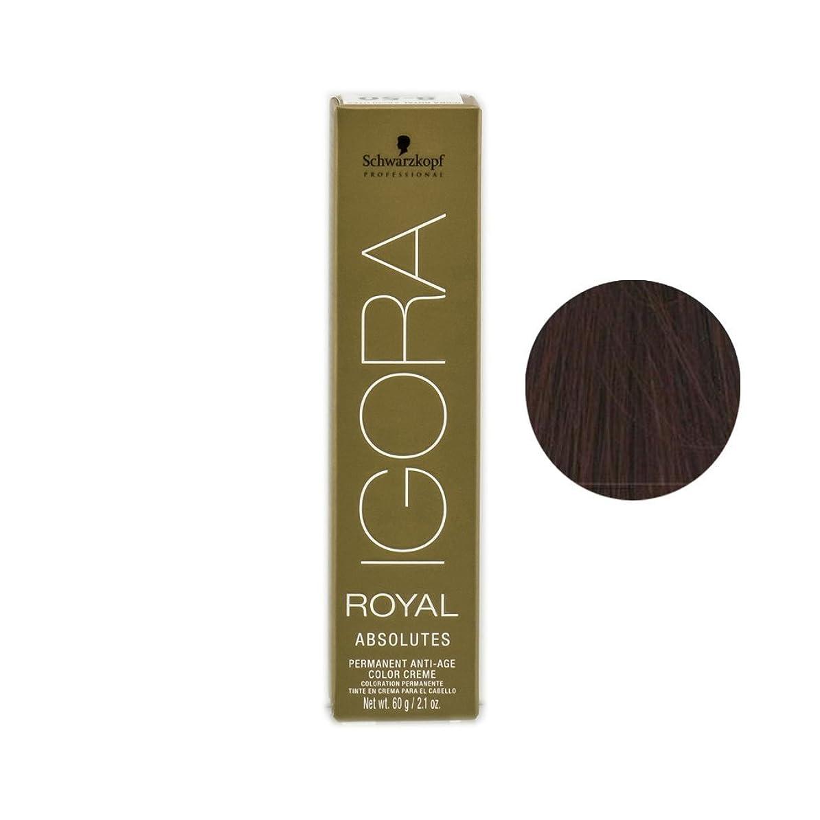 未払い絡まる窓を洗うSchwarzkopf プロフェッショナルIGORAロイヤルアブソリュート髪の色、 2.1オンス 5-70、ライトブラウン銅netural