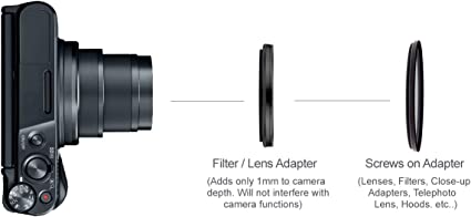 Multithreaded Glass Filter 1A Multicoated Includes Lens Filter Adapter For Sony Cyber-shot DSC-QX100 52mm UV Haze