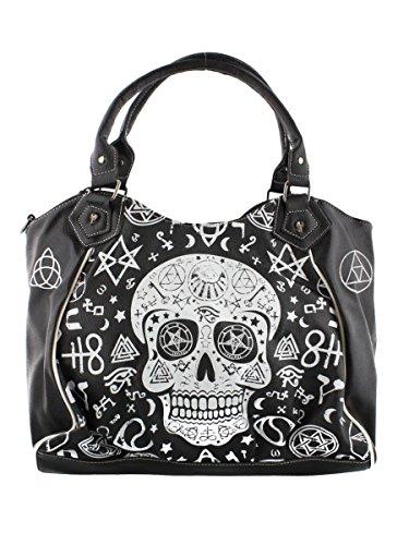 Banned Black Skull Pentagram Handbag