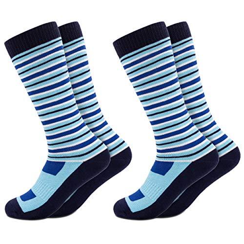 Occulto 2 paar kinderskisokken | kniekousen voor jongens en meisjes | warme kinderen winterthermische sokken maten 23-38 | wintersportsokken voor kinderen