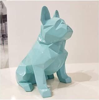 JDSHSO Nordic Abstract Geometric Sculptures Resin Dog Statue Modern Minimalist French Bulldog Sculpture Ornament Craft