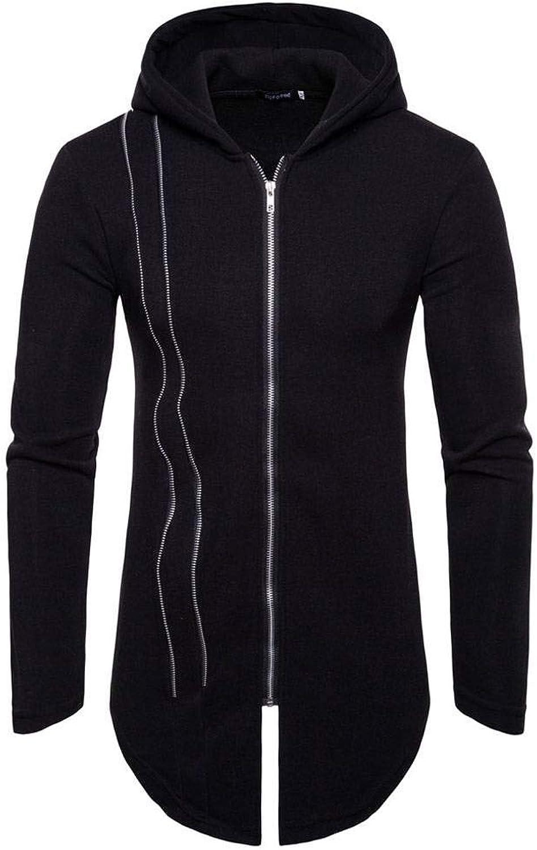 Porlox Men's Long Sleeve Slim Fit Hoodie Zipup Sweatshirt