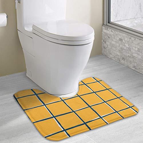 Alfombrilla antideslizante para baño de baño, ultra microfibra para ducha, inodoro, absorbente de agua (40 x 49 cm, patrón de azulejos de piscina)