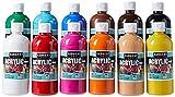 Sargent Art (SARAD) 16oz Acrylic Paint Assortment, 12 Colors, Bottles, Count