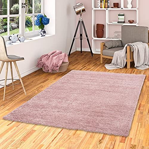 tappeto salotto rosa antico Pergamon Aloha - Tappeto Shaggy a Pelo Lungo - Misto Rosa Antico - 7 Dimensioni