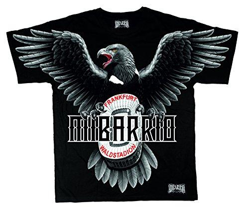 Mi Barrio Art Adler WALDSTADION Herren T-Shirt mit Attila u Eintracht Schal, nur die SGE (L)