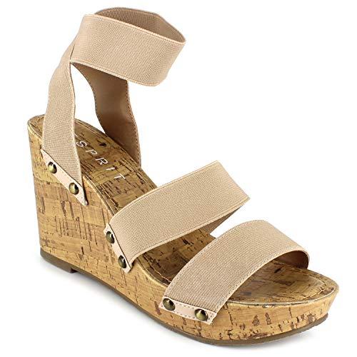 ESPRIT Damen Freedom Keilabsatz-Sandale, Nude, 40 EU