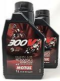 MOTUL Aceite de Motor Competicion 300V2 4T FL Road Racing 10W50, 2 litros (2x1 lt)
