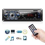 Autoradio Bluetooth, 1 Din Radio de Voiture Audio, Stereo FM Radio 4x60W Poste Radio Voiture Soutien...