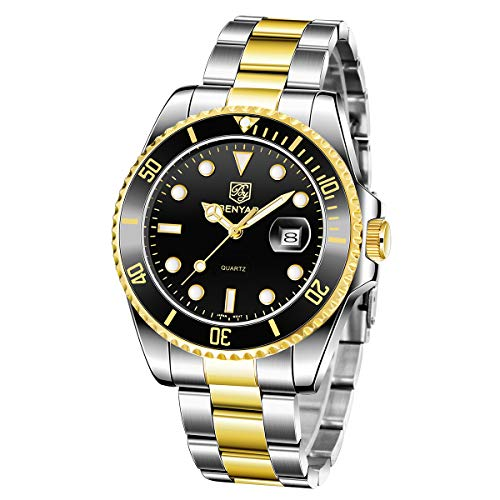 BENYAR Mode Herren Quarz Wasserdicht Edelstahl Uhren Business Casual Sport Design Armbanduhr für Männer
