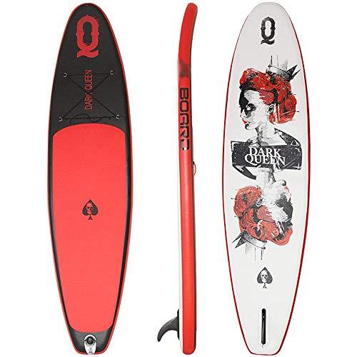 ZLZNX Stand-Up Paddleboarding, Aufblasbarer Stand Up Paddle Board, Inflatable SUP Board Breite Position, Surf Control Anti Rutsch Deck, Leine, Paddel und Pumpe, Stehen Boot für Jugend und Erwac