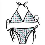 Traje de baño, Color Amor Mujeres Bikinis Traje de baño Imprimir Bikini Trajes de baño