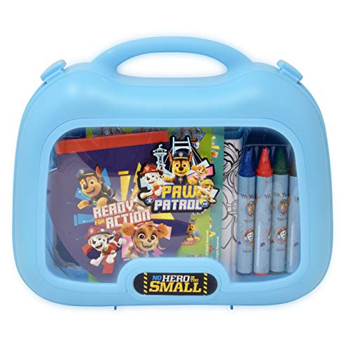Paw Patrol Coloring and Activity Carry Case, Includes Jumbo Crayons, Stickers, Mess Free Crafts, Doodle Pad, Reuse Me Stickers, for Toddlers, Boys and Kids
