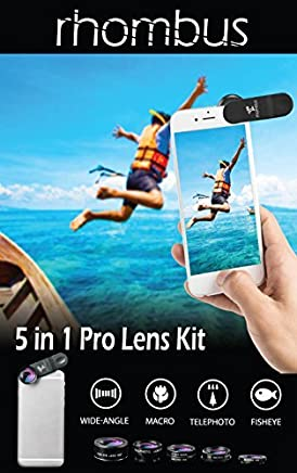 Stocking stuffer Iphone camera lens kit attachments set with case   Smartphone accessory phone camera lens attachment   Zoom telephoto fisheye photography accessories   Android Iphone 6 7 8 plus X